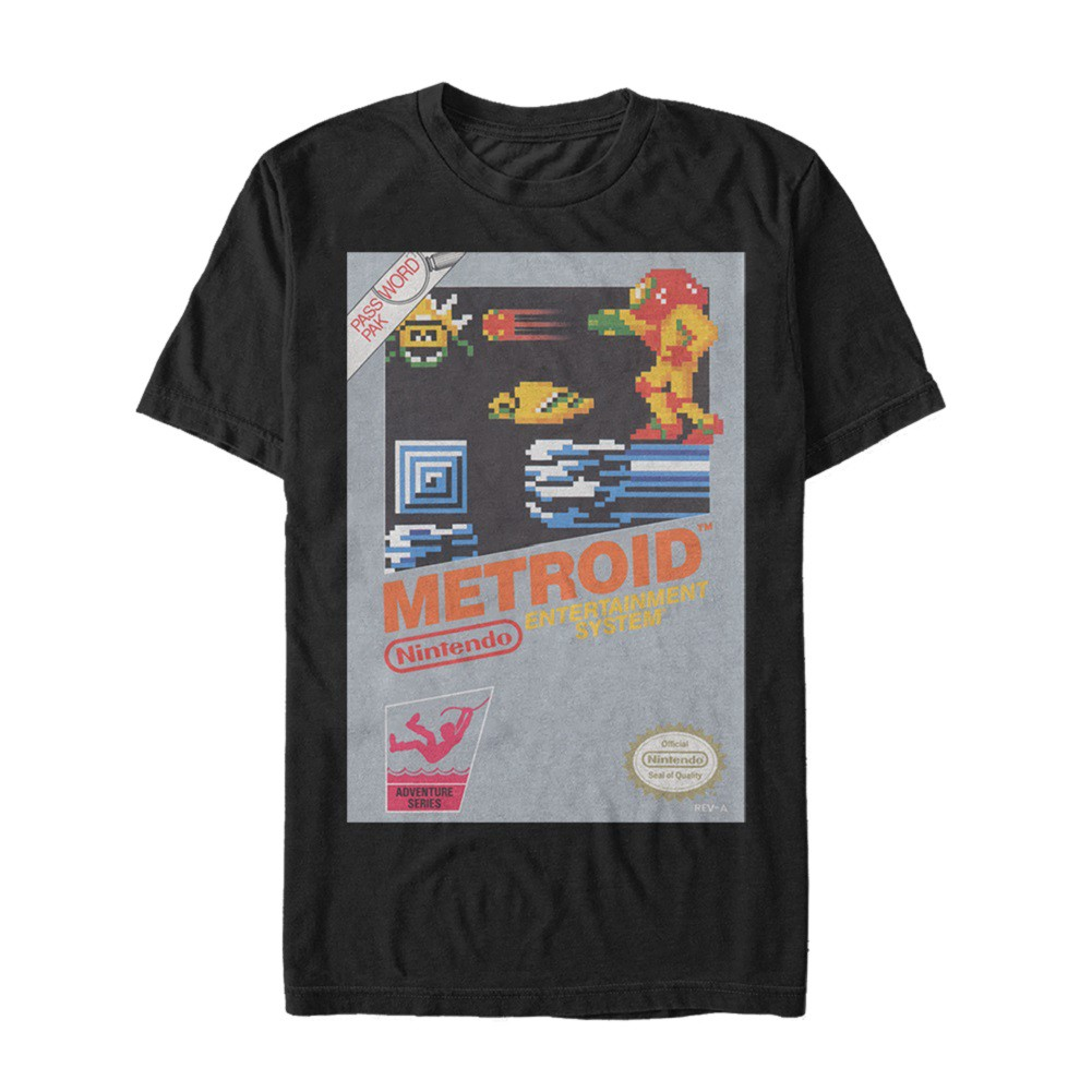Metroid NES Cover Men's Black T-Shirt