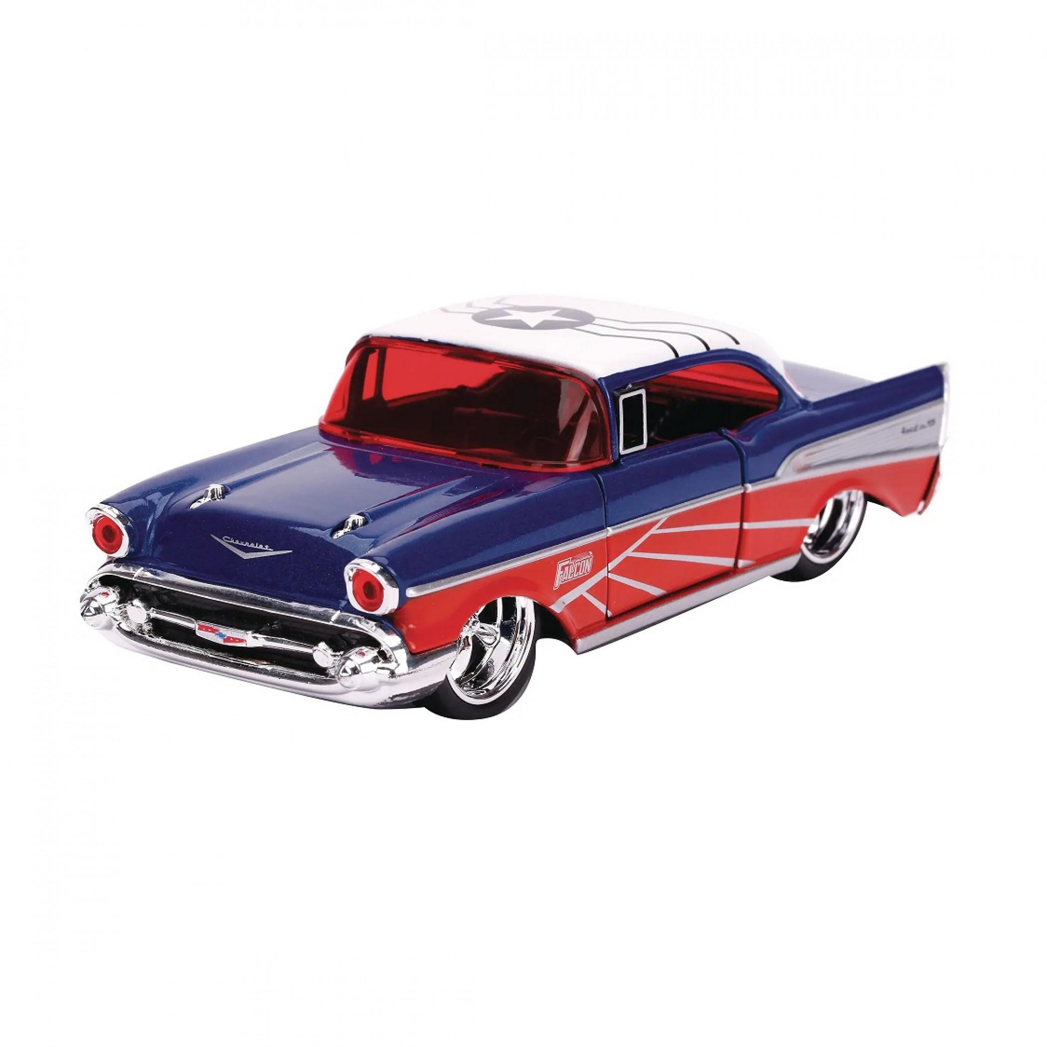 "Falcon 1957 Chevy Bel-Air Diecast Metal 5"" Movie Car by Jada Toys"