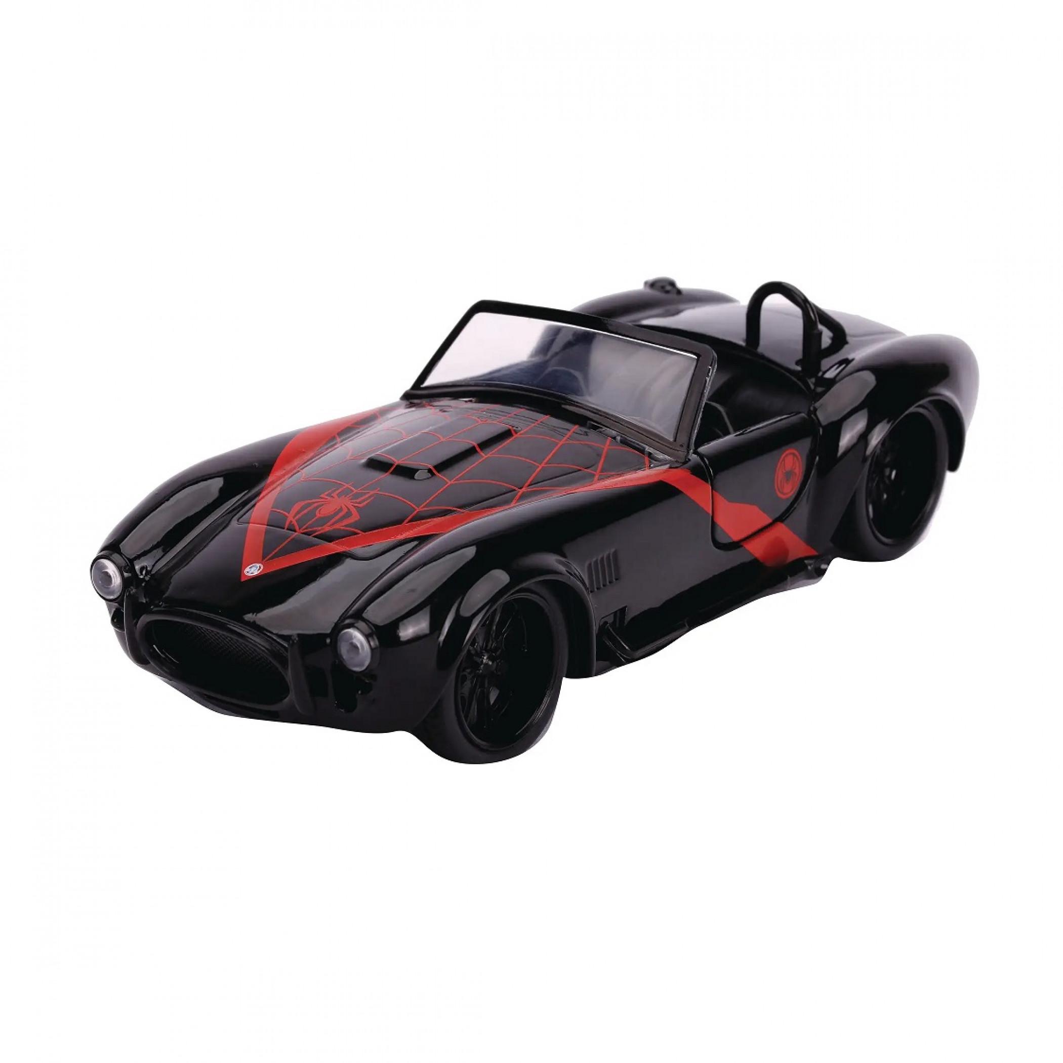 "Miles Morales 1965 Shelby Cobra 427 Diecast Metal 5"" Movie Car by Jada Toys"