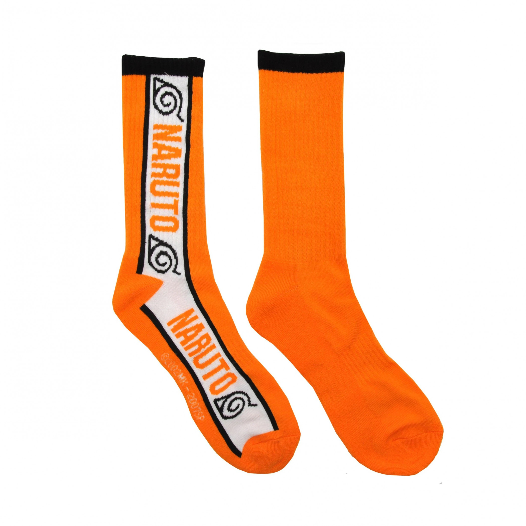 Naruto Shippuden Hidden Leaf Village Symbols Athletic Crew Socks