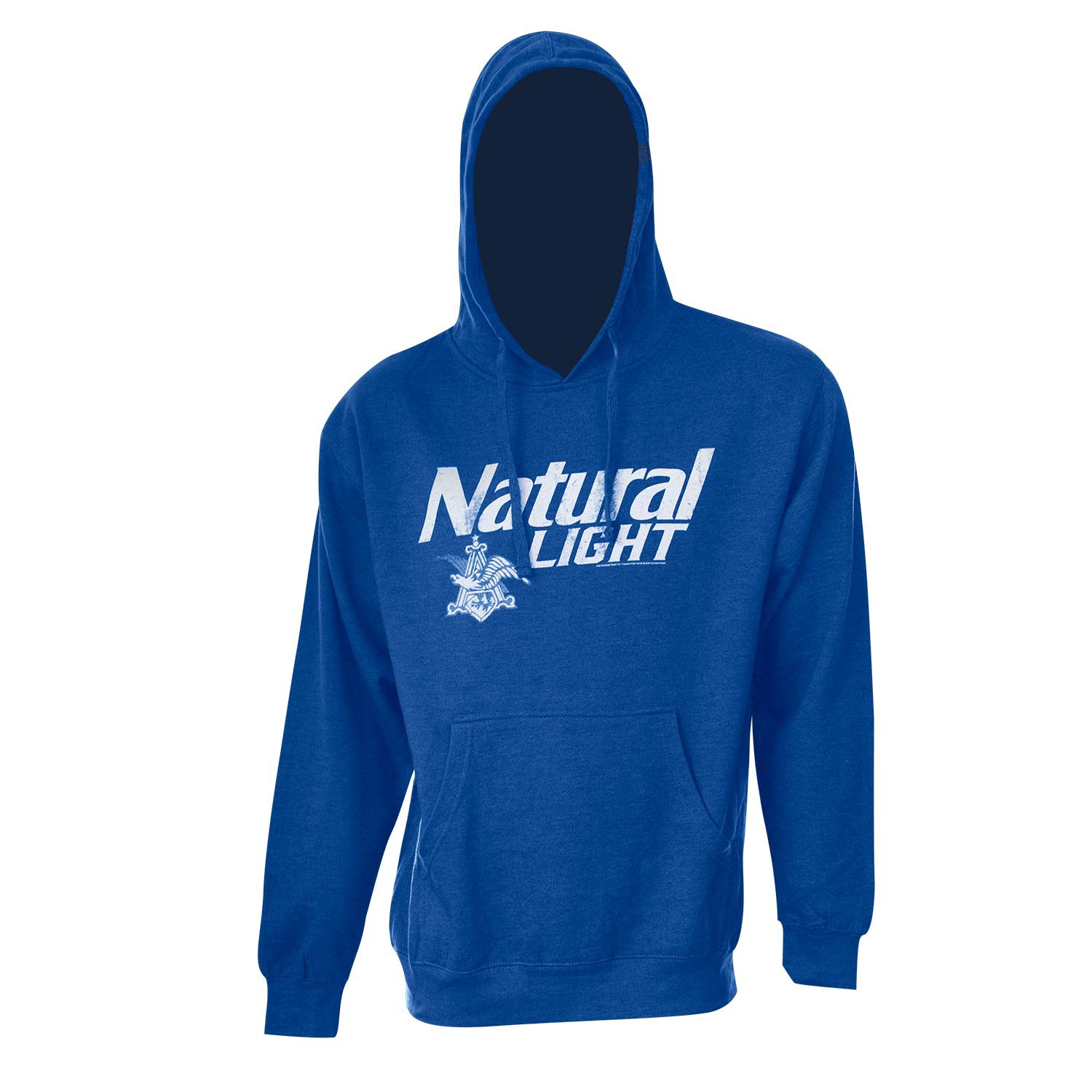 Natural Light Beer Logo Men's Royal Blue Hoodie