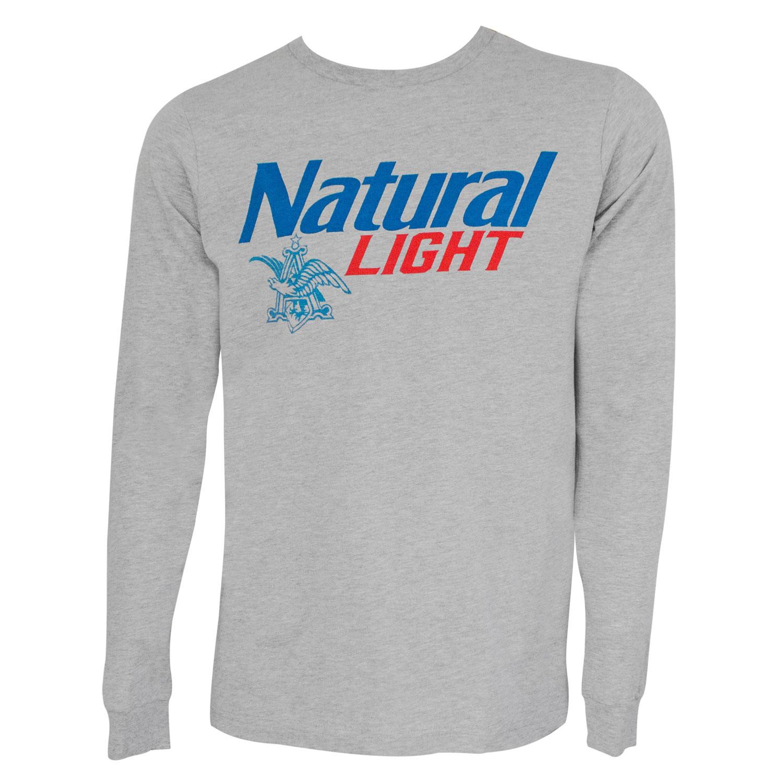 Natural Light Logo Long Sleeve Grey Tee Shirt