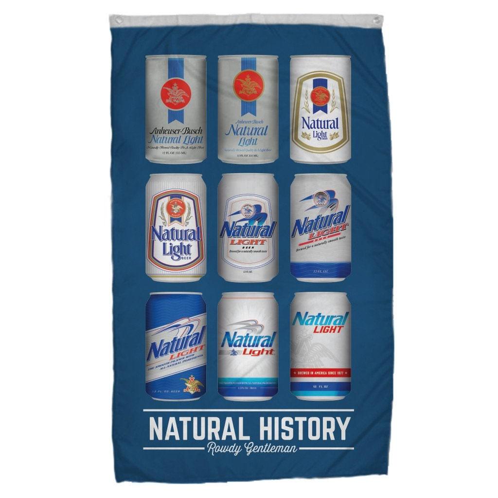 Natural Light Rowdy Gentleman History Flag
