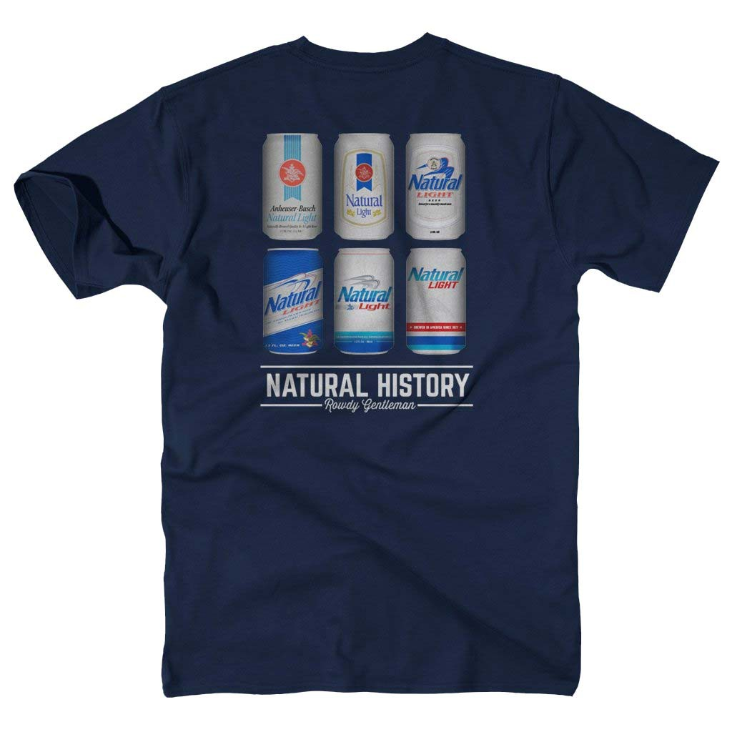 Natty Light Natural History Rowdy Gentleman Navy Blue Men's T-Shirt