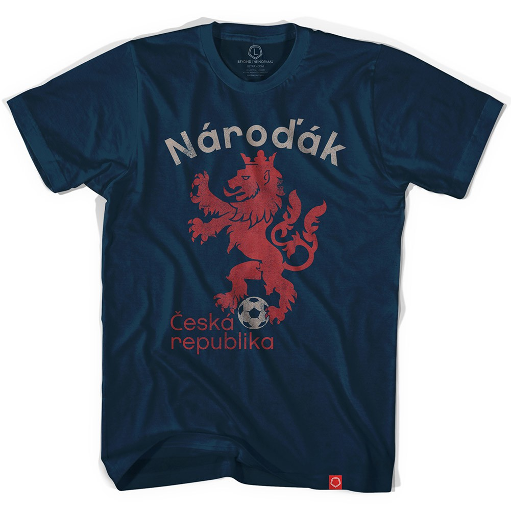 Blue Czech Republic Narodak Soccer Men's T-Shirt
