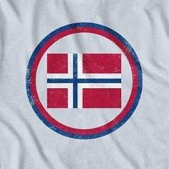 Men's Norway Vintage Flag Crest T-shirt