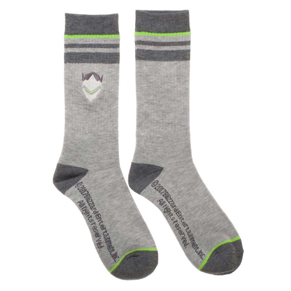 Overwatch Genji Men's Gray Crew Socks