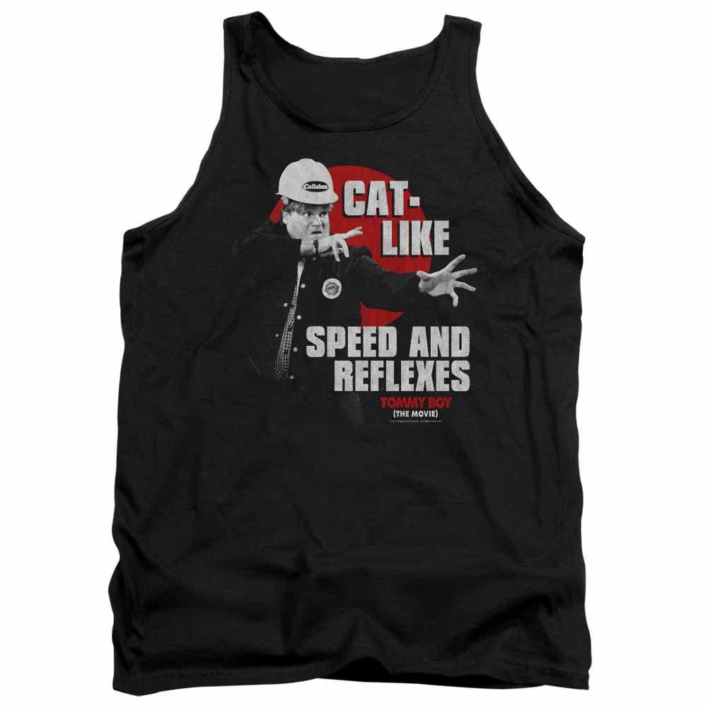 Tommy Boy Cat Like Black Tank Top