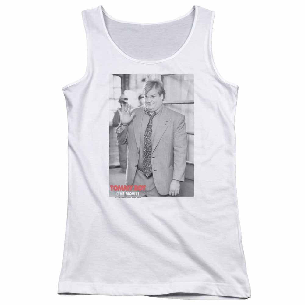 Tommy Boy Square White Juniors Tank Top