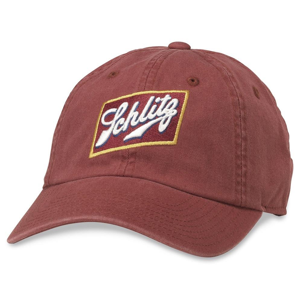 Schlitz Logo Red Strapback Hat