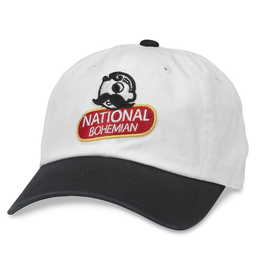 National Bohemia Black And White Strapback Hat