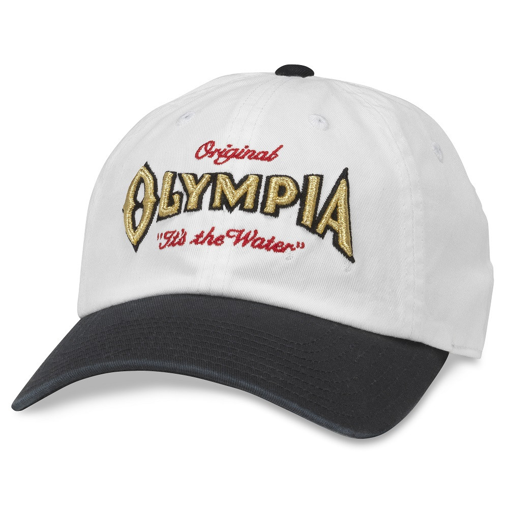 Olympia Black And White Adjustable Strapback Hat