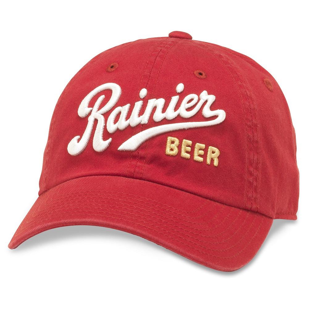 Rainer Red Adjustable Strapback Hat