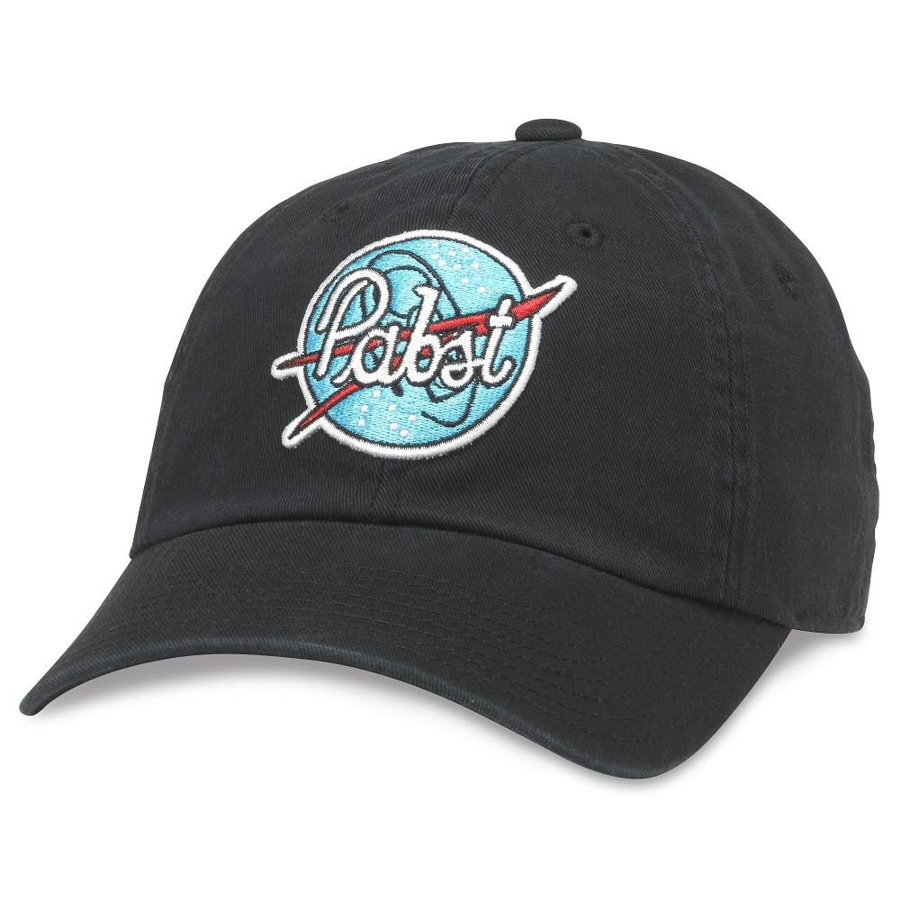 Pabst Patch Black Strapback Hat