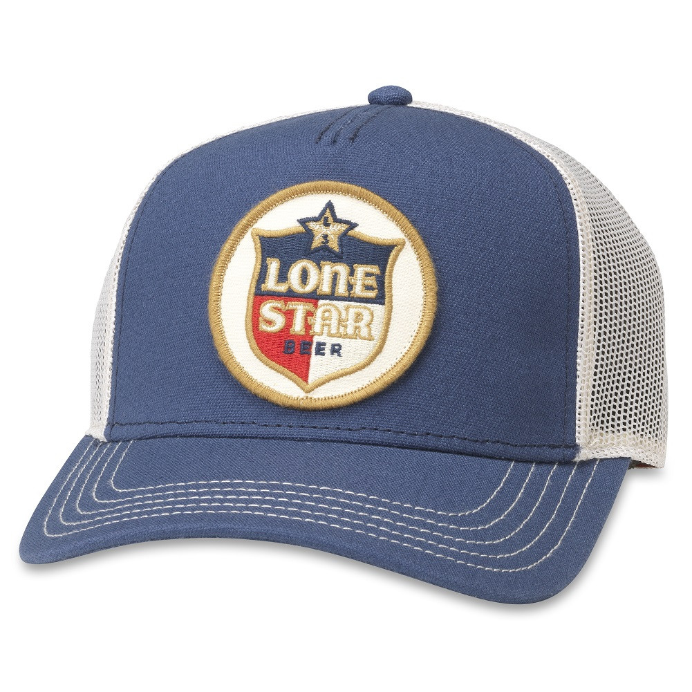 Lone Star Blue And White Mesh Adjustable Snapback Trucker Hat