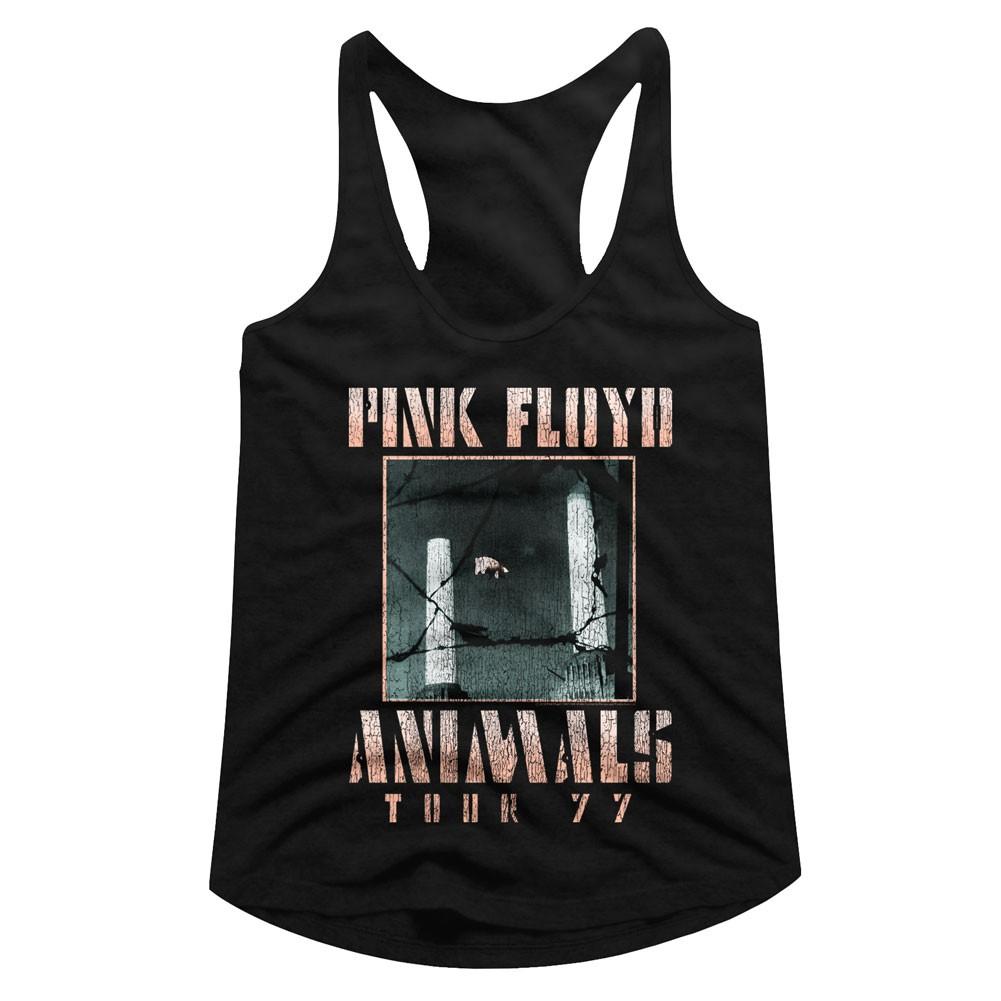 Pink Floyd Animals Tour 77 Women's Racerback Tank Top