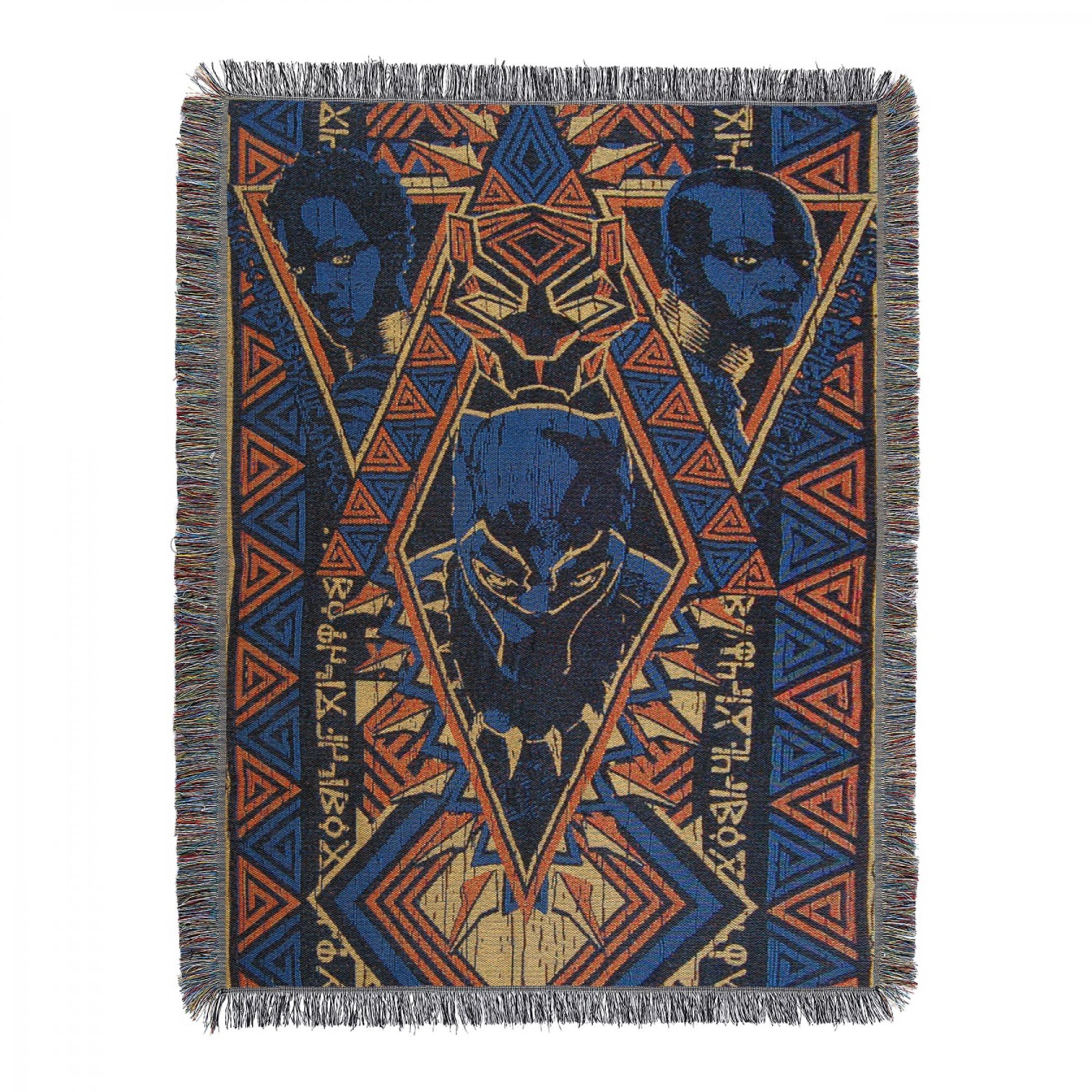 Black Panther King Tapestry Throw