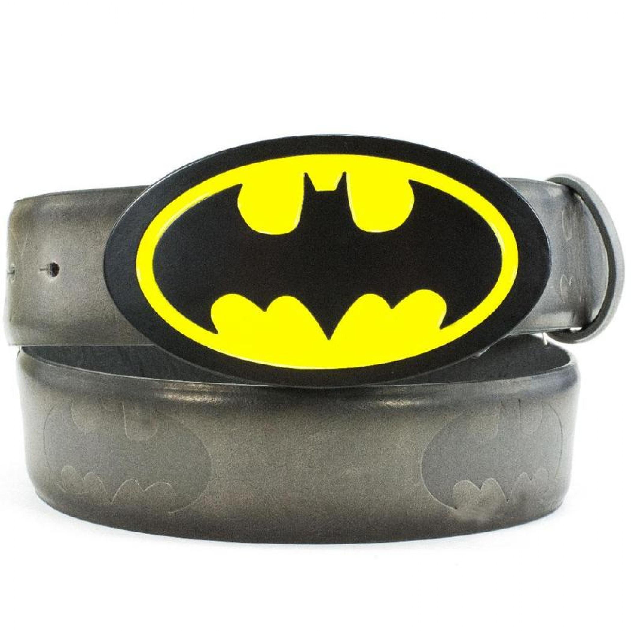 Batman Classic Logo with Embossed Symbols Belt