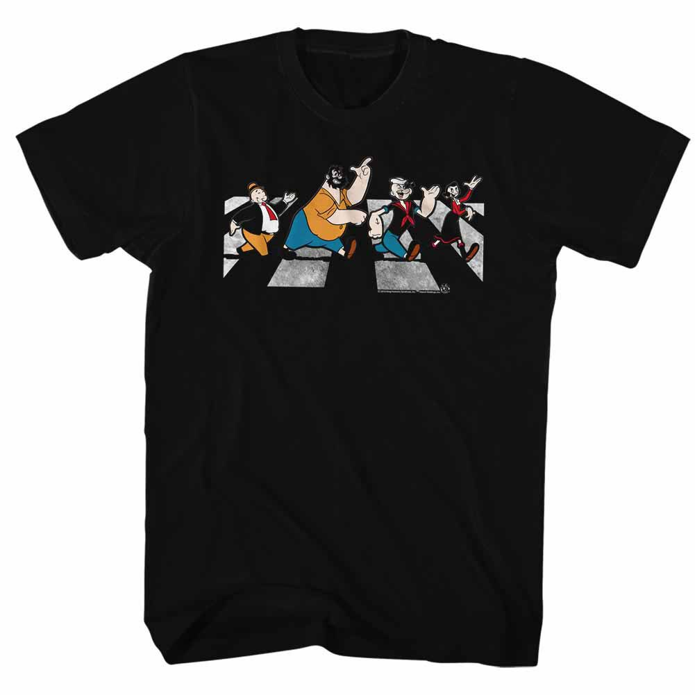 Popeye Crosswalk Black T-Shirt