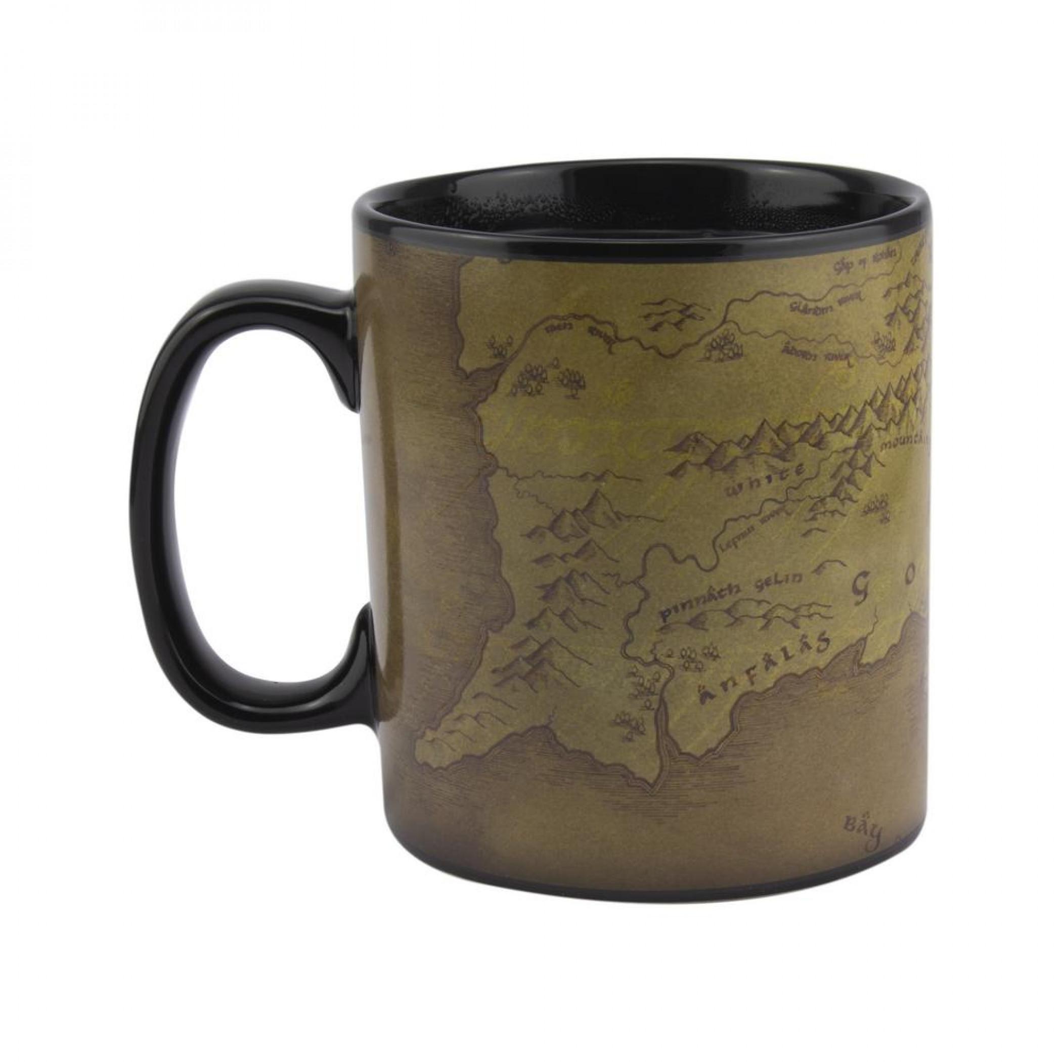 Lord Of The Rings Map 18oz. Heat Change Ceramic Mug