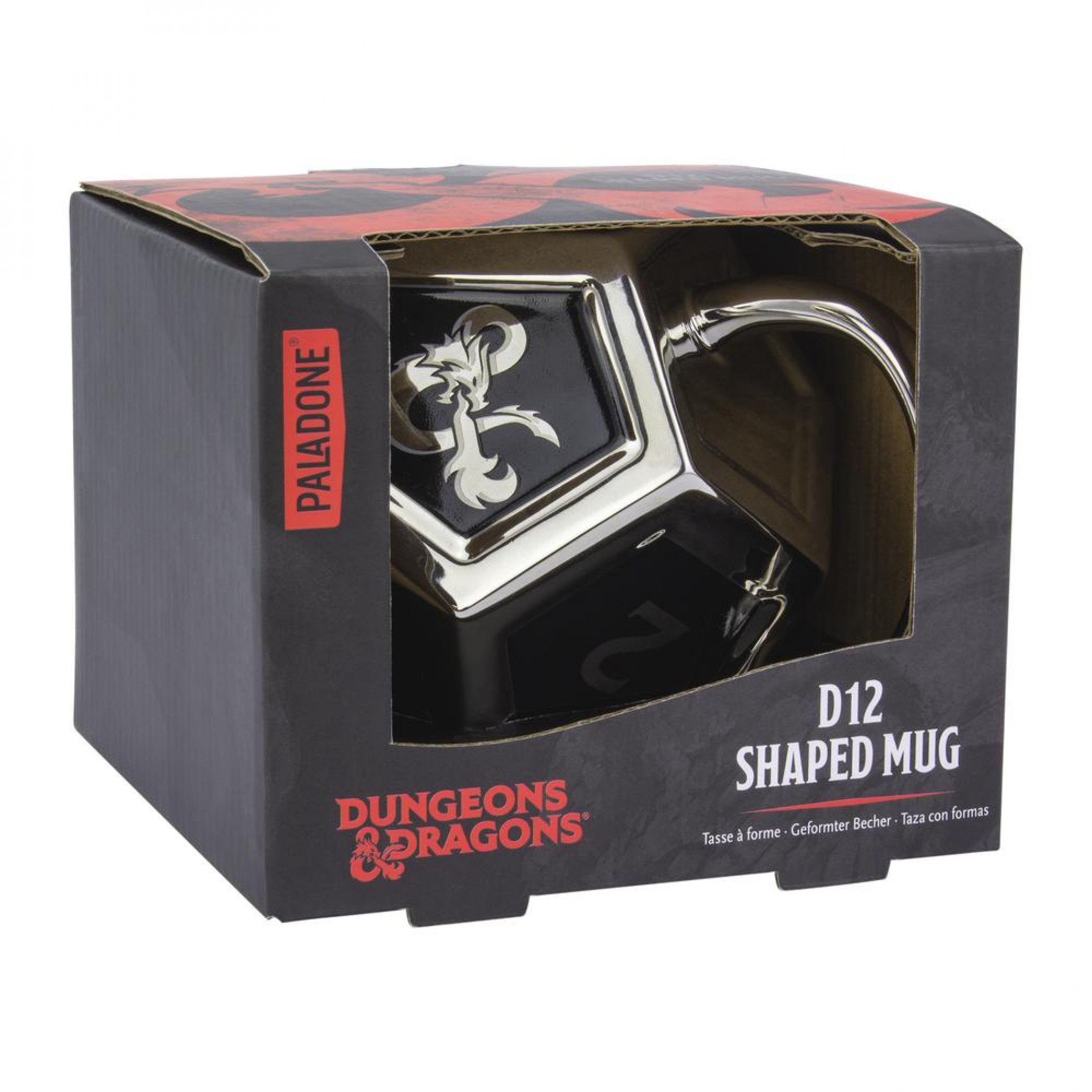 Dungeons and Dragons D12 Mug with Sticker