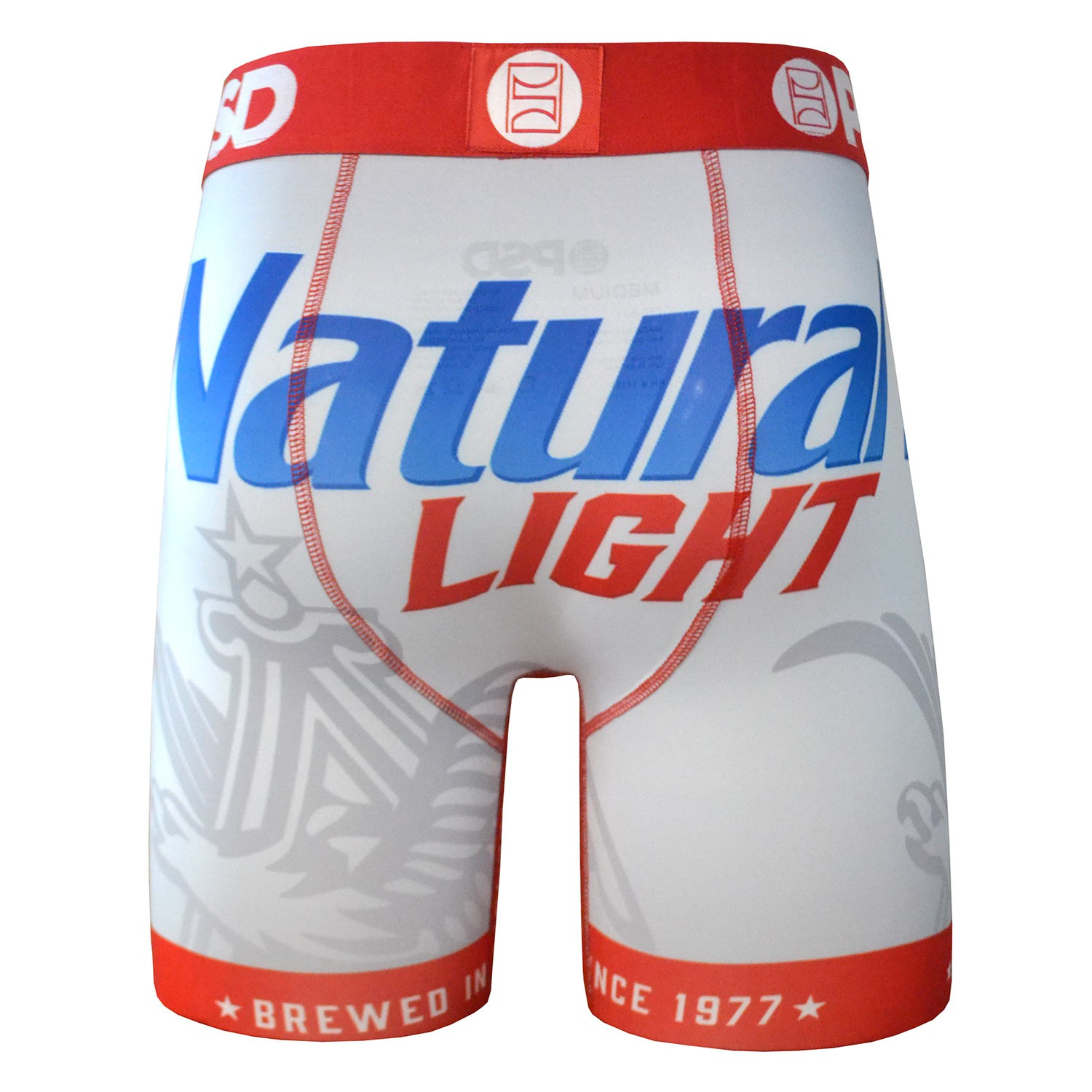 Natural Light Beer Label Boxers