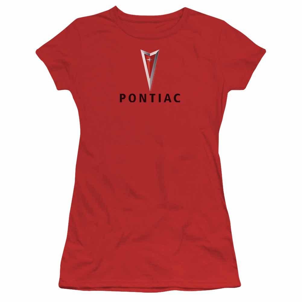 Pontiac Centered Arrowhead Red Juniors T-Shirt