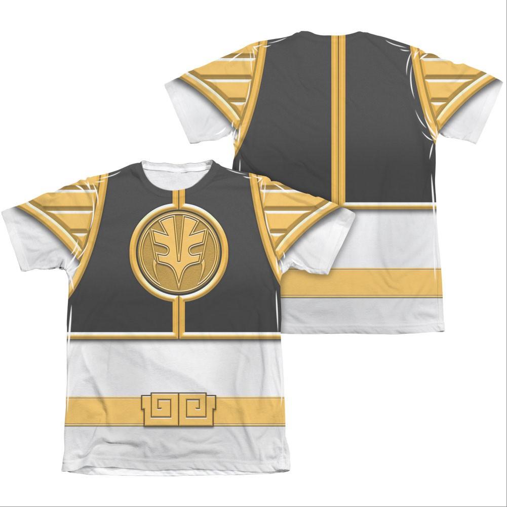 Power Rangers Emblem Costume White Sublimation T-Shirt