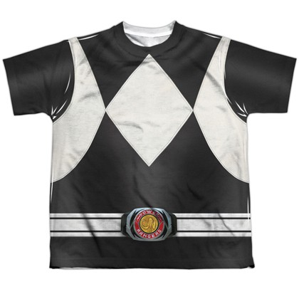 Power Rangers Black Ranger Youth Costume Tee