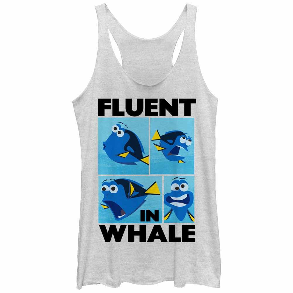 Disney Pixar Finding Dory Whale Talk White  Juniors Tank Top
