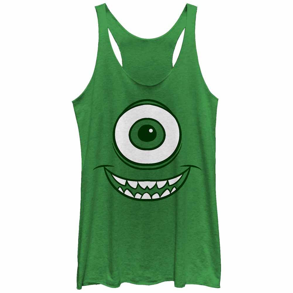 Disney Pixar Monsters Inc Mike Face Green Juniors Tank Top