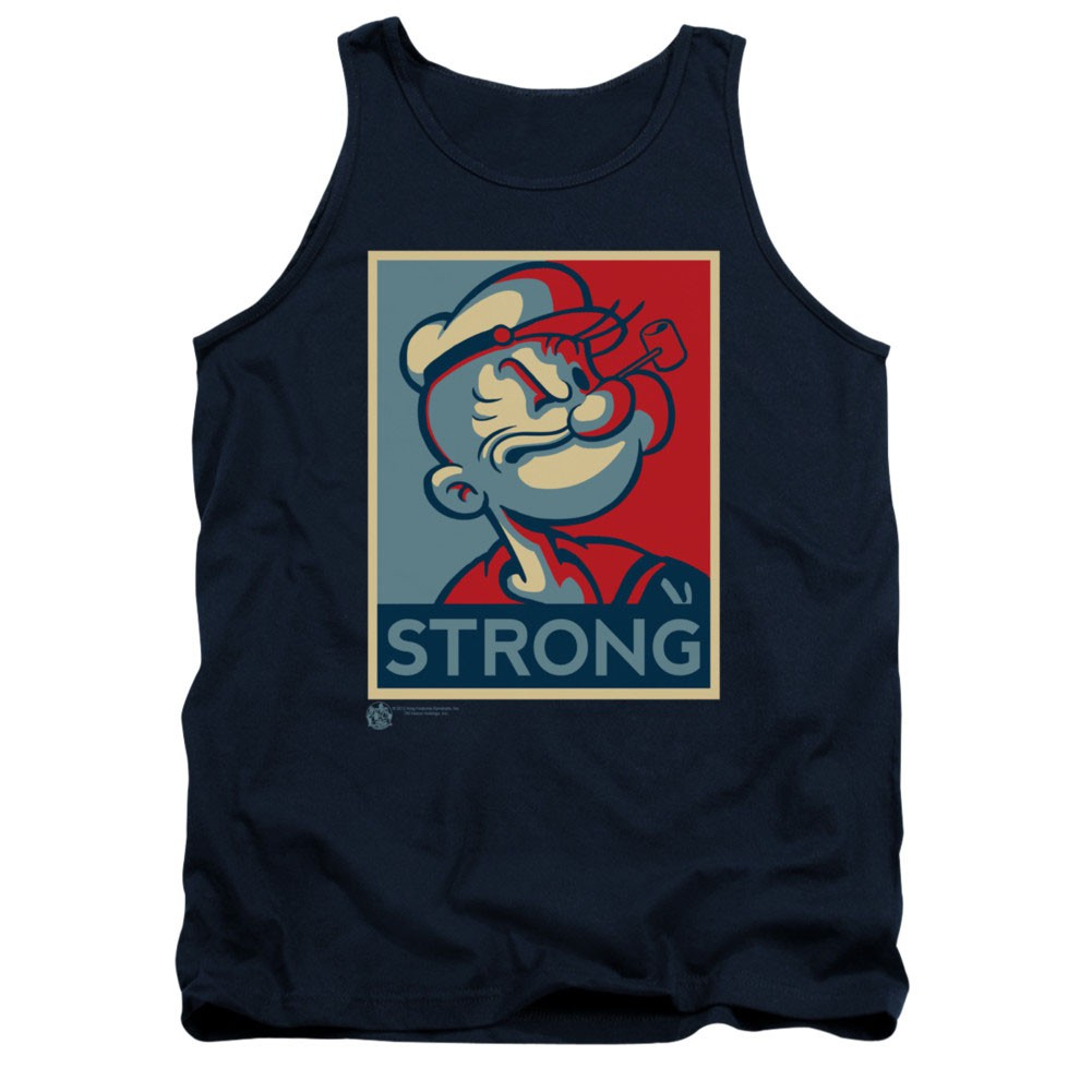 Popeye Strong Blue Tank Top
