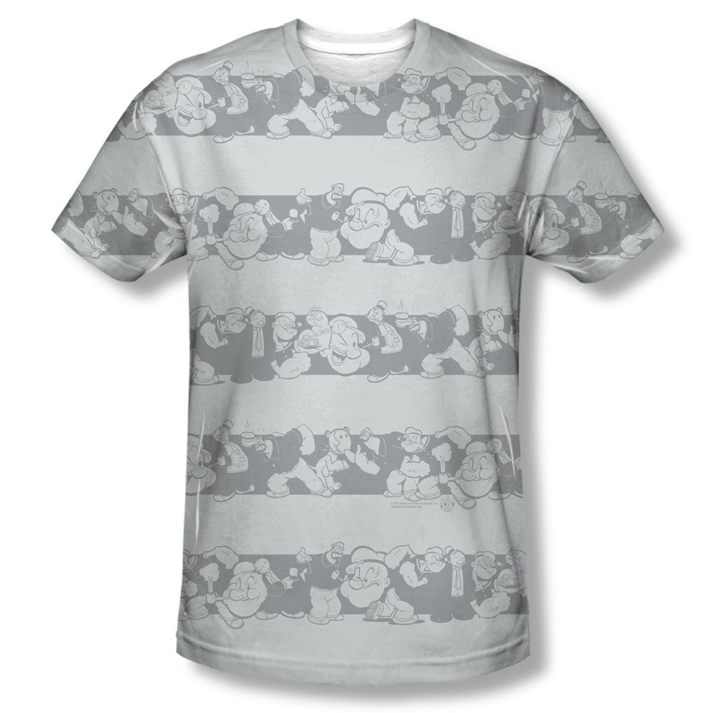 Popeye Group Stripes Sublimation T-Shirt