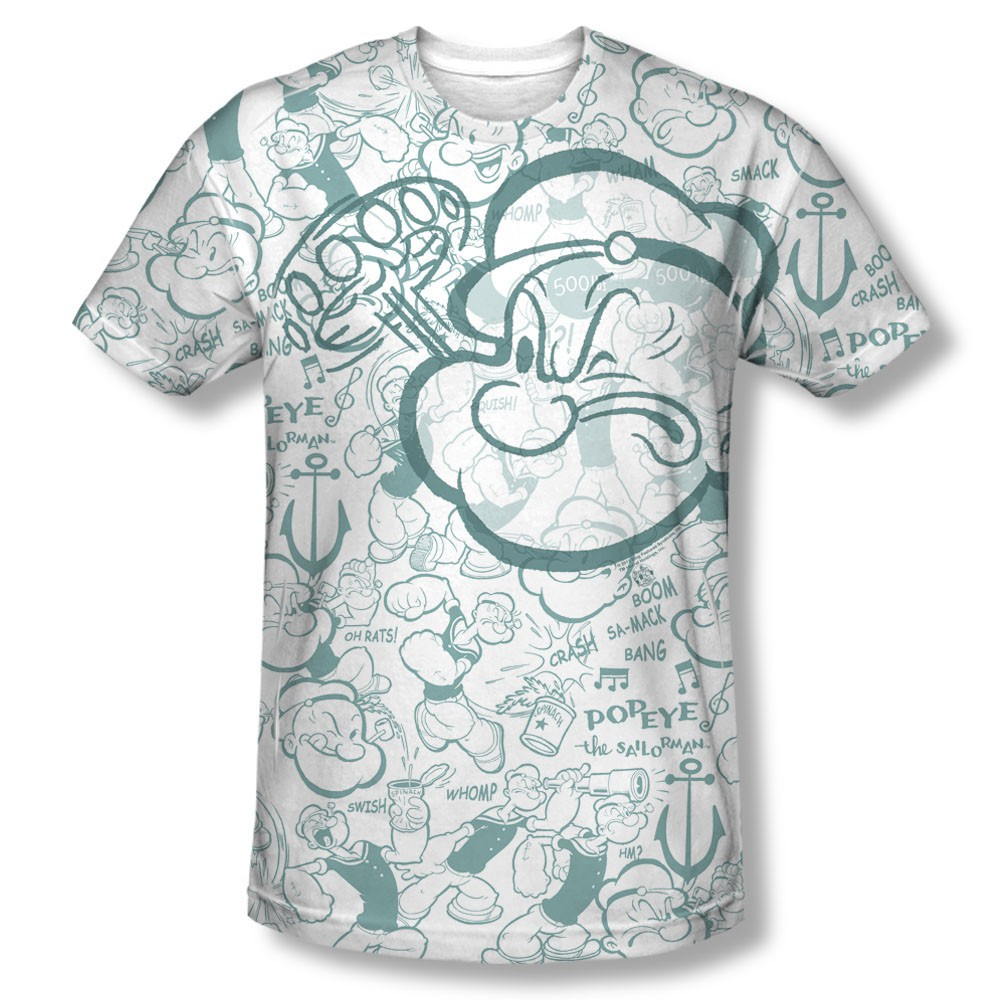 Popeye Repeat Sailor Sublimation T-Shirt