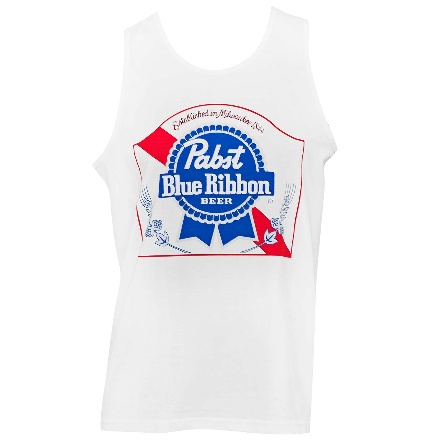 Pabst Blue Ribbon White Tank Top