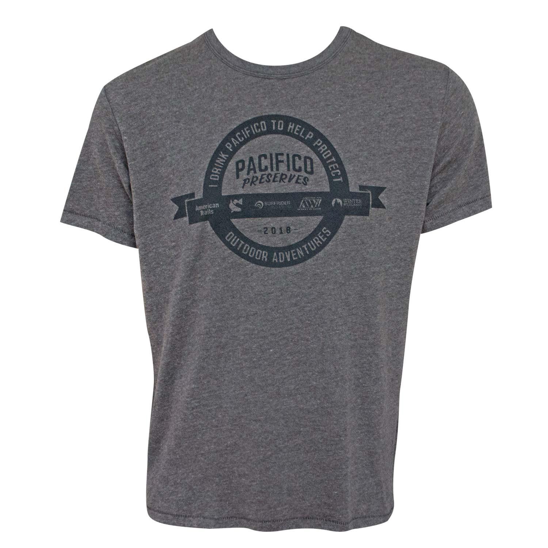 Pacifico Beer Preserves Outdoor Adventures Men's Gray T-Shirt