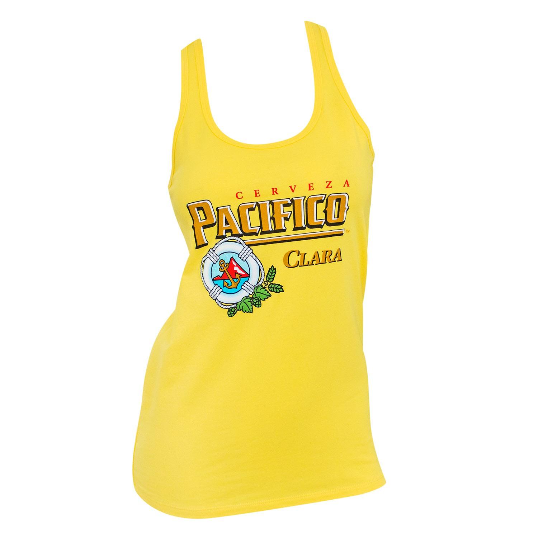 Pacifico Logo Ladies Yellow Tank Top