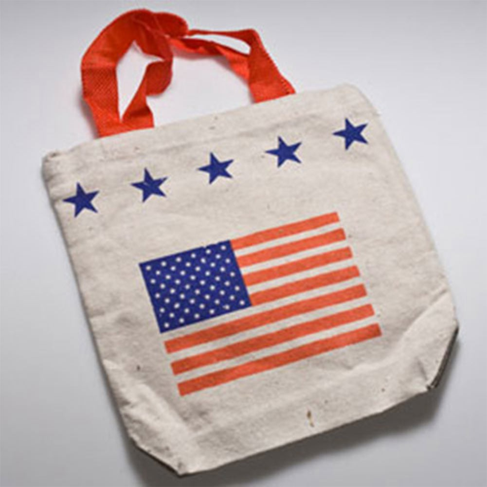 Patriotic USA American Flag Stars Stripes Tote Bag