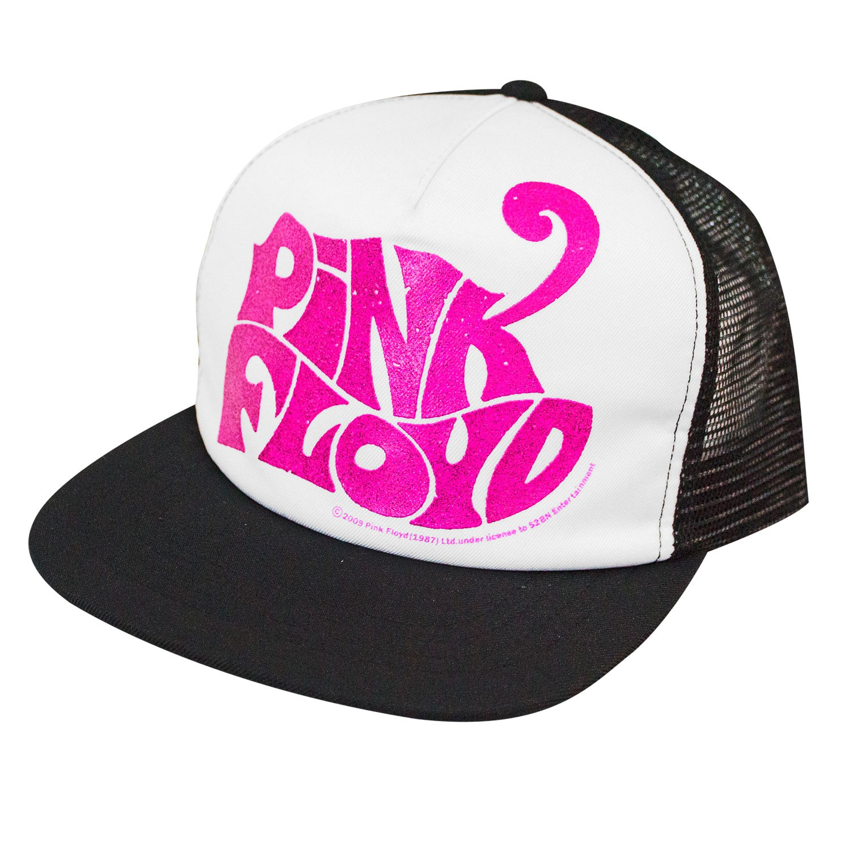 Pink Floyd Glitter Logo Mesh Trucker Hat