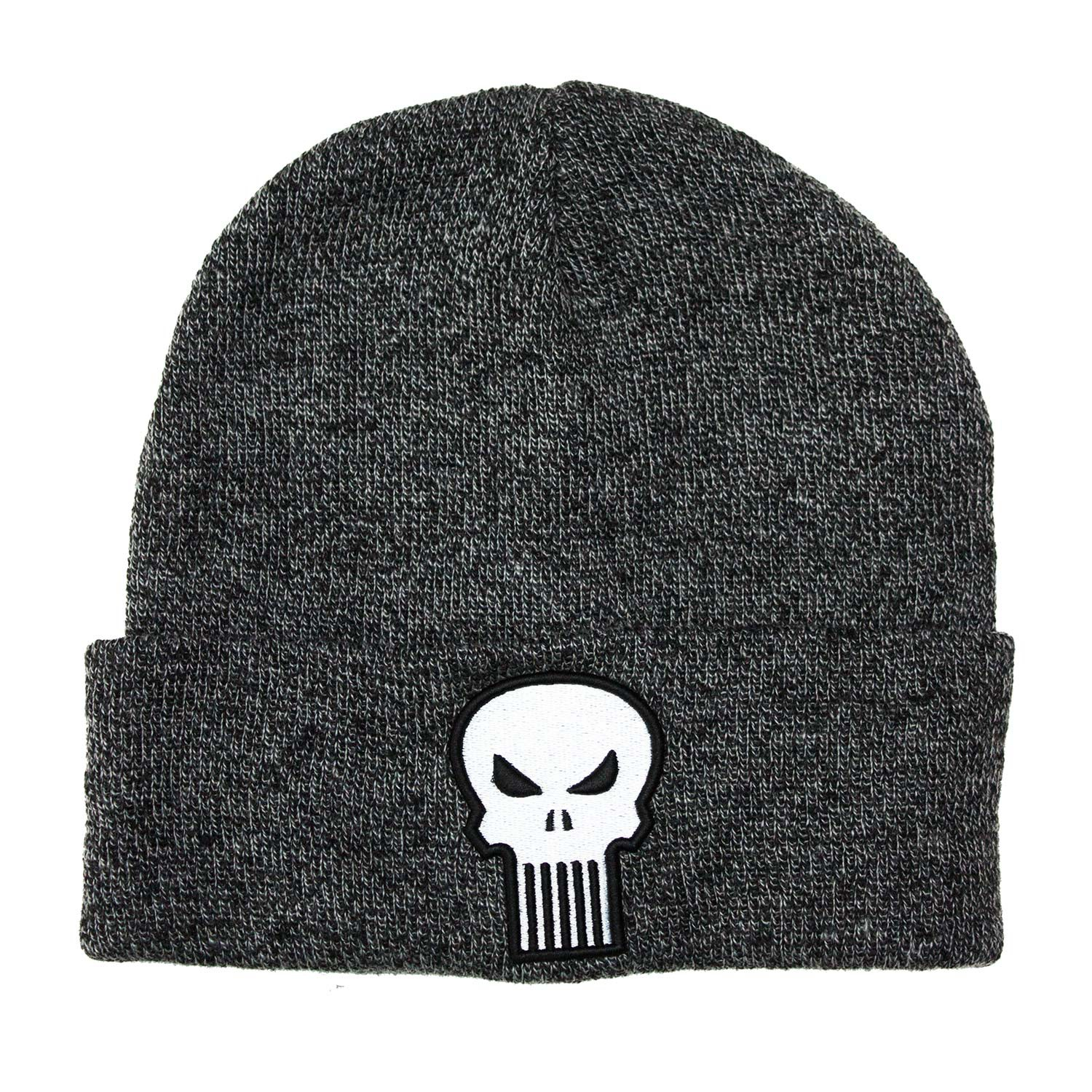 Punisher Skull Logo Grey Winter Hat