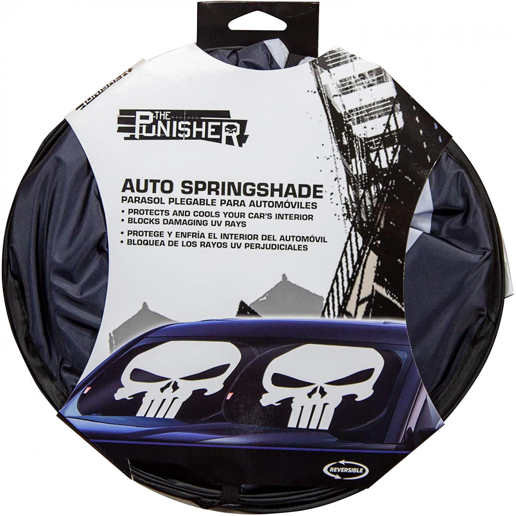 Punisher Skull Logo Springshade Car Windshield Sunshade