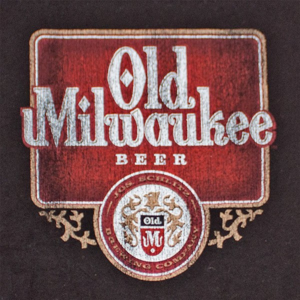 Old Milwaukee Beer Vintage Men's Black T-Shirt