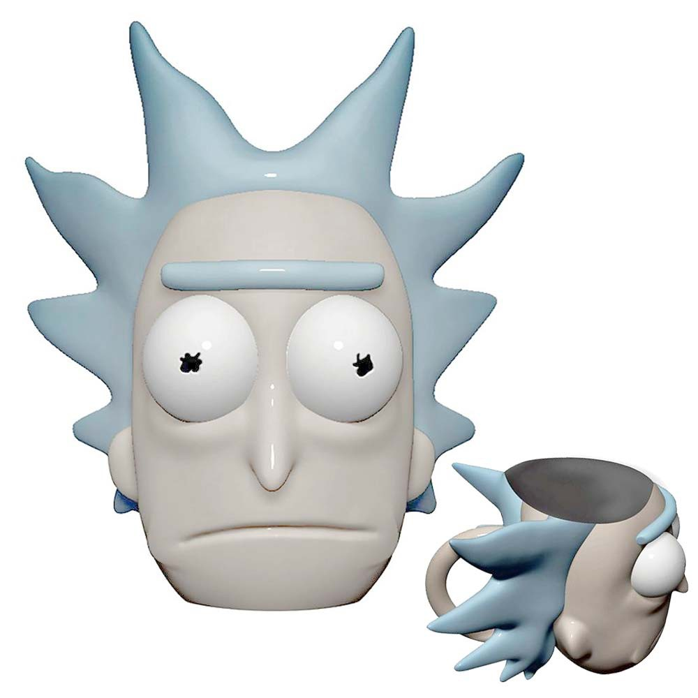 Rick And Morty Molded Rick Face Mug With Lid