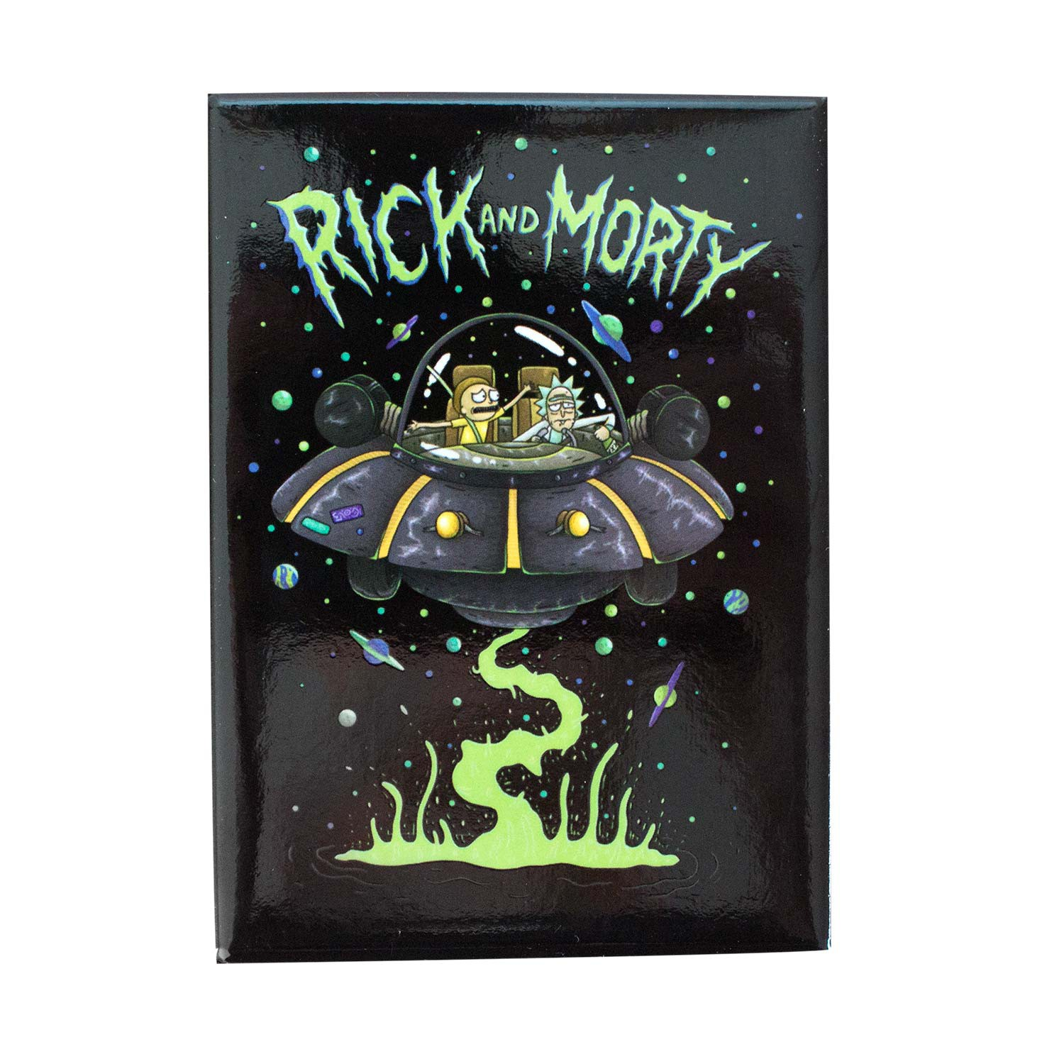 Rick And Morty UFO Magnet
