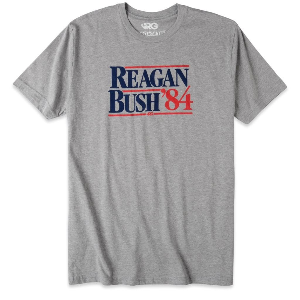Rowdy Gentleman Reagan Bush '84 Grey Tee Shirt