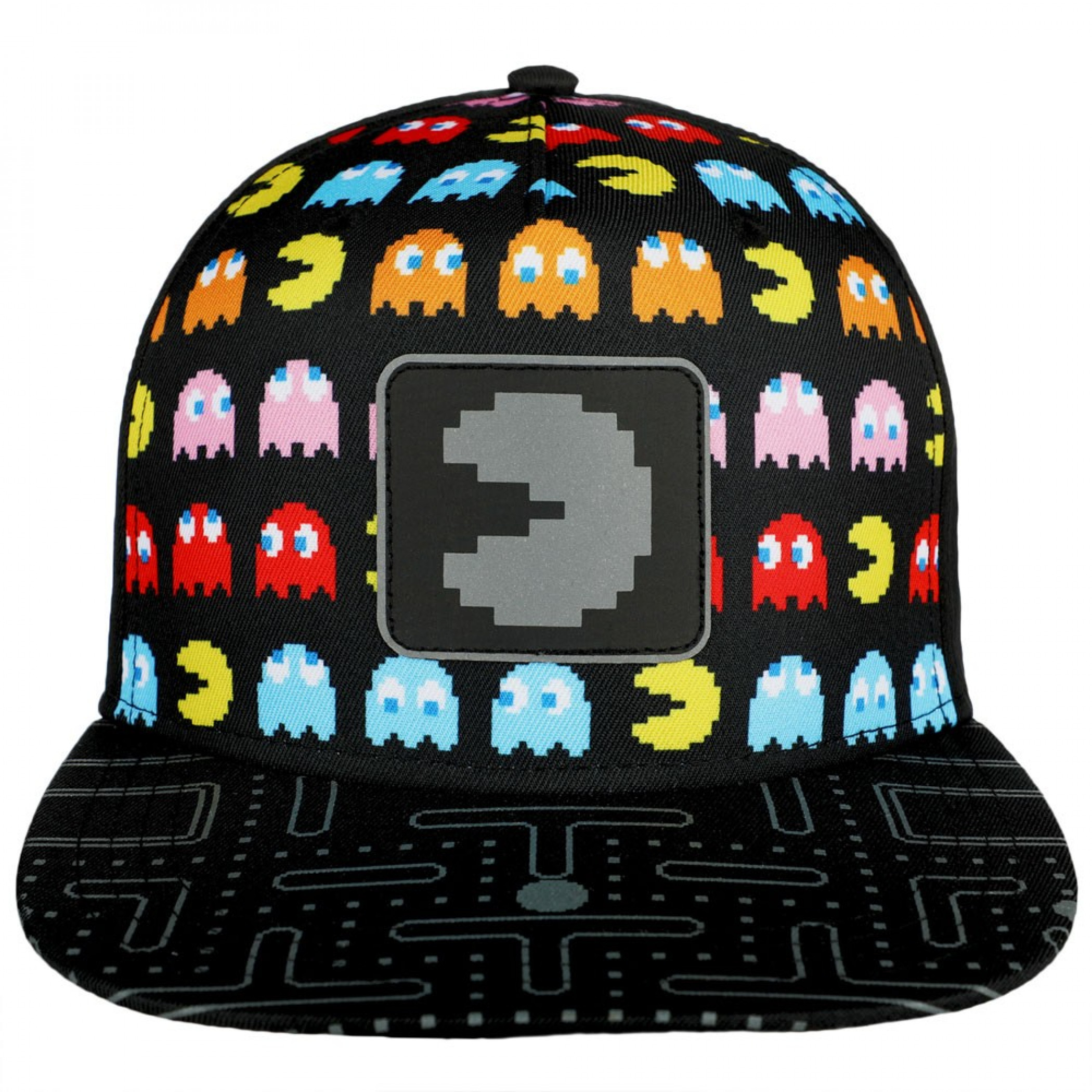 Pac-Man Nintendo All Over Front with Reflective Patch Youth Snapback Hat
