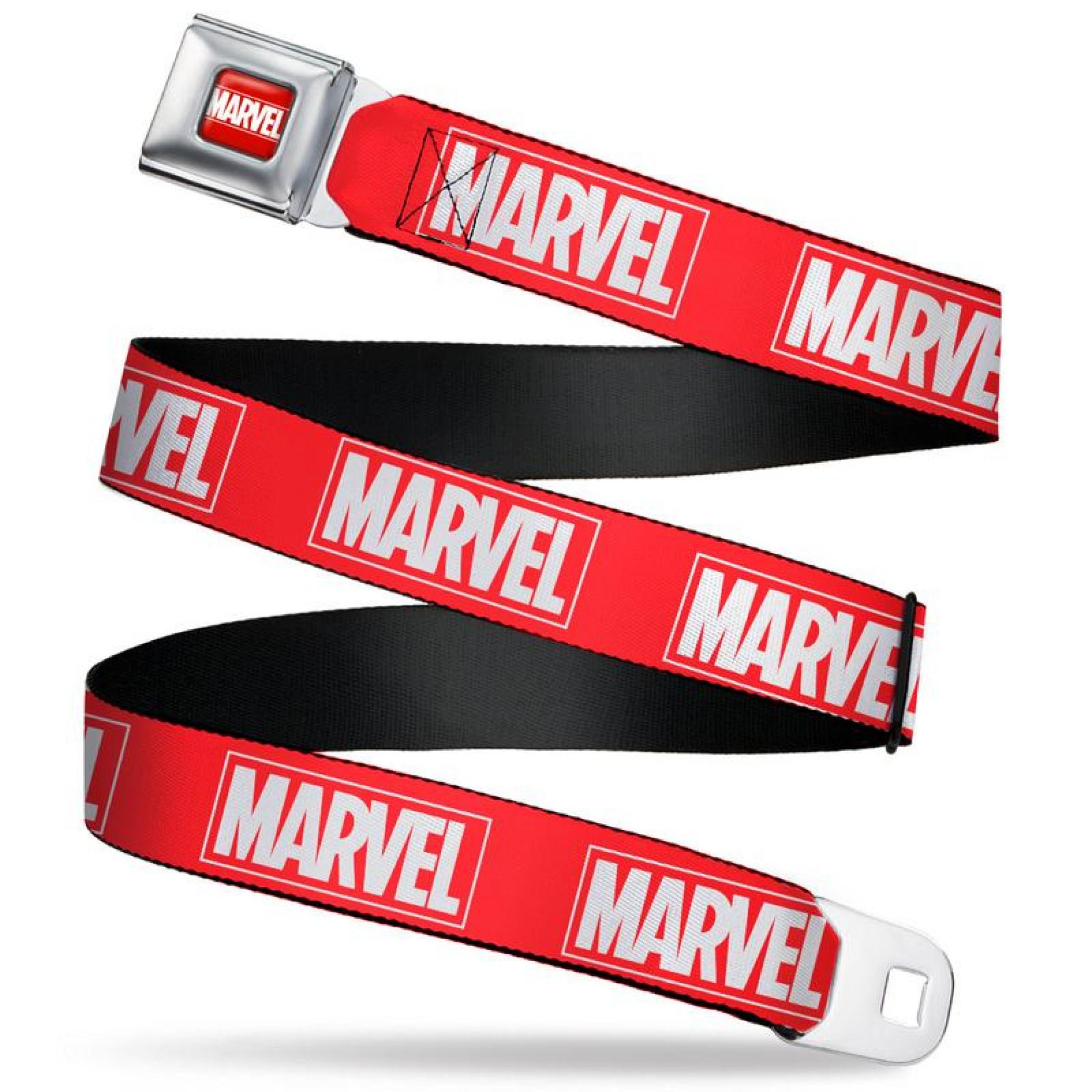 Marvel Brand Logo Seatbelt Belt