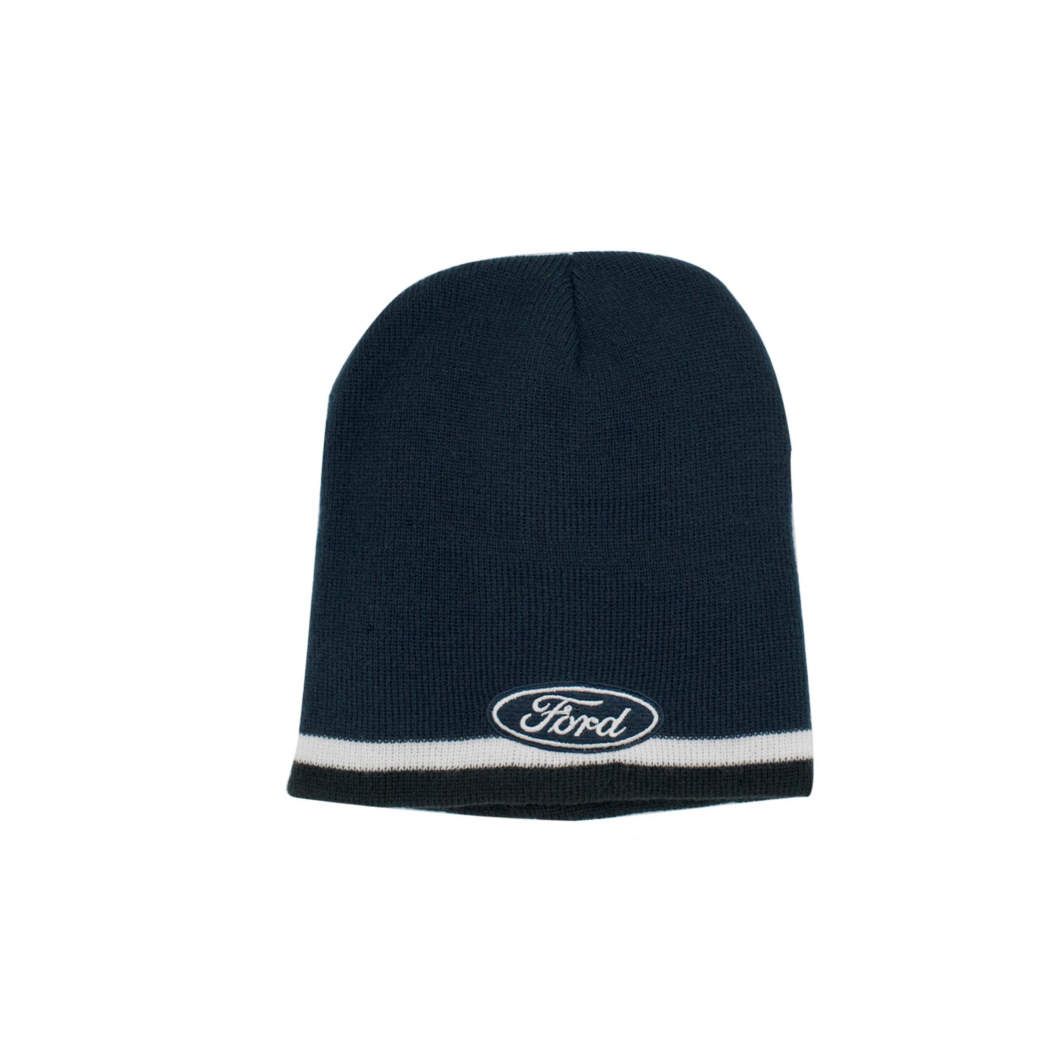 Ford Oval Logo Striped Knit Beanie