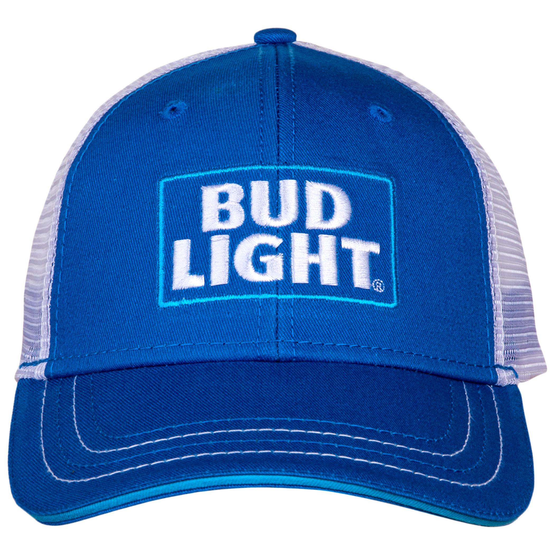 Bud Light Logo Adjustable Snapback Mesh Trucker Hat