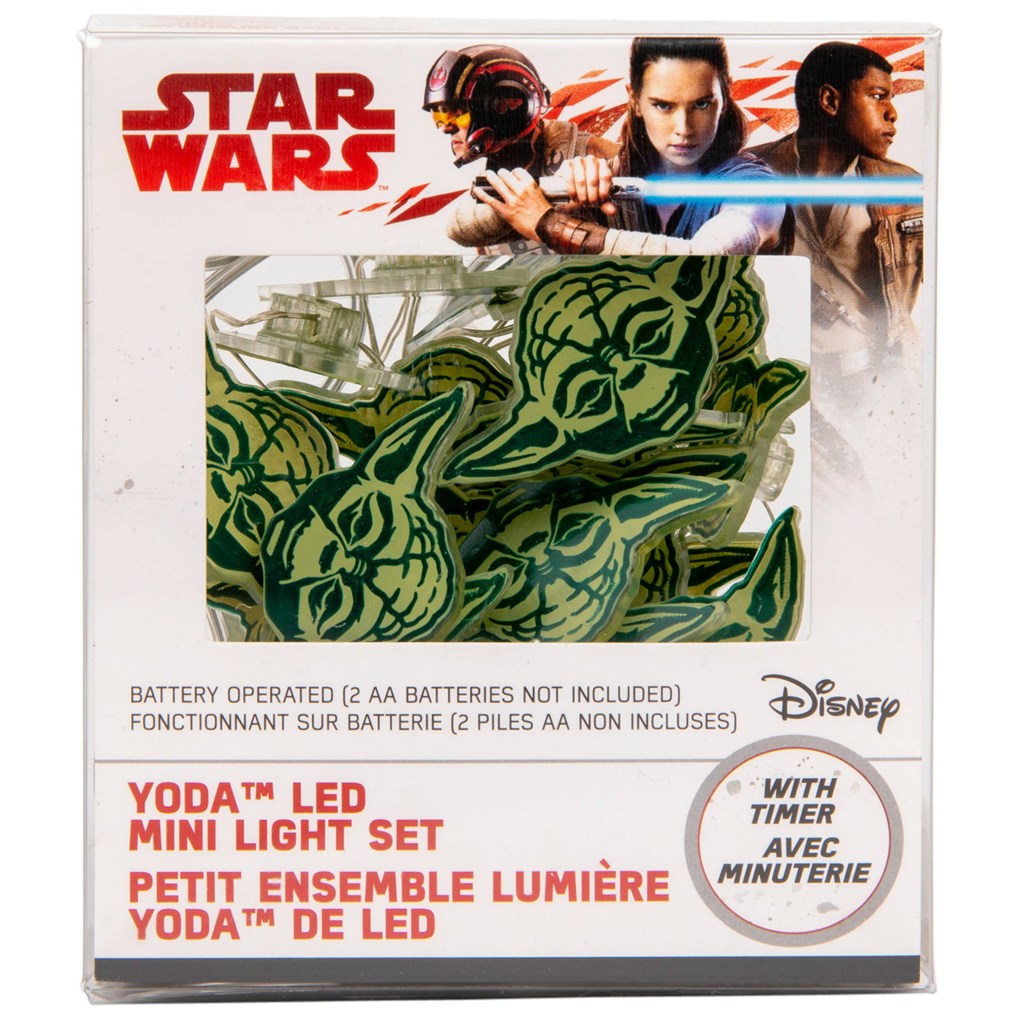 Star Wars Yoda Head Battery-Operated LED Fairy String Lights